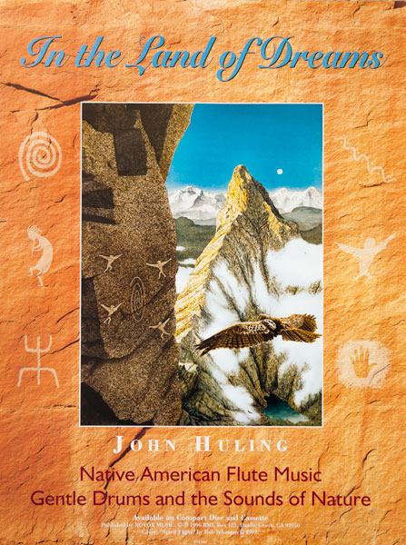 In the Land of Dreams Native American Flute Music Poster | John Huling Music