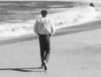 John Huling out for a morning walk at one of his favorite beaches along the coast of Big Sur California where the inspiration for Open Spaces came.