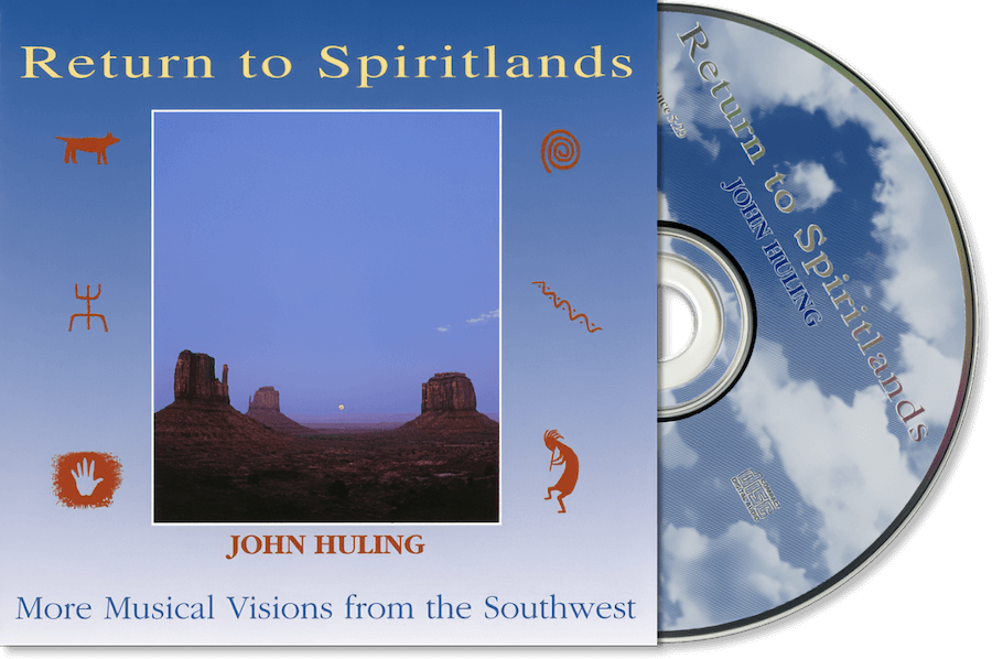 Return to Spiritlands John Huling - Original CD Cover Art