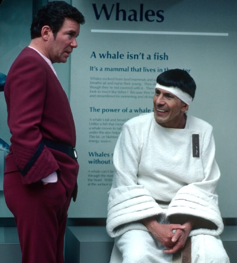 William Shatner and Leonard Nimoy taking a break from filming at the Monterey Bay Aquarium | John Huling Music