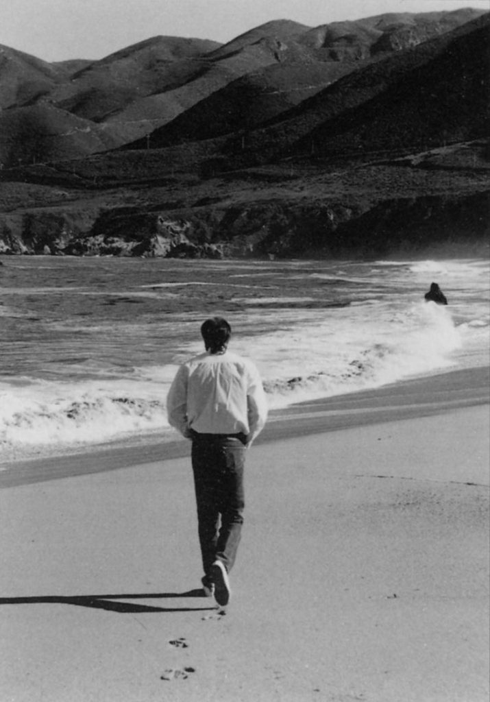 John Huling at Soberanes Point not far from his Big Sur/Pacific Grove California Home - 1988