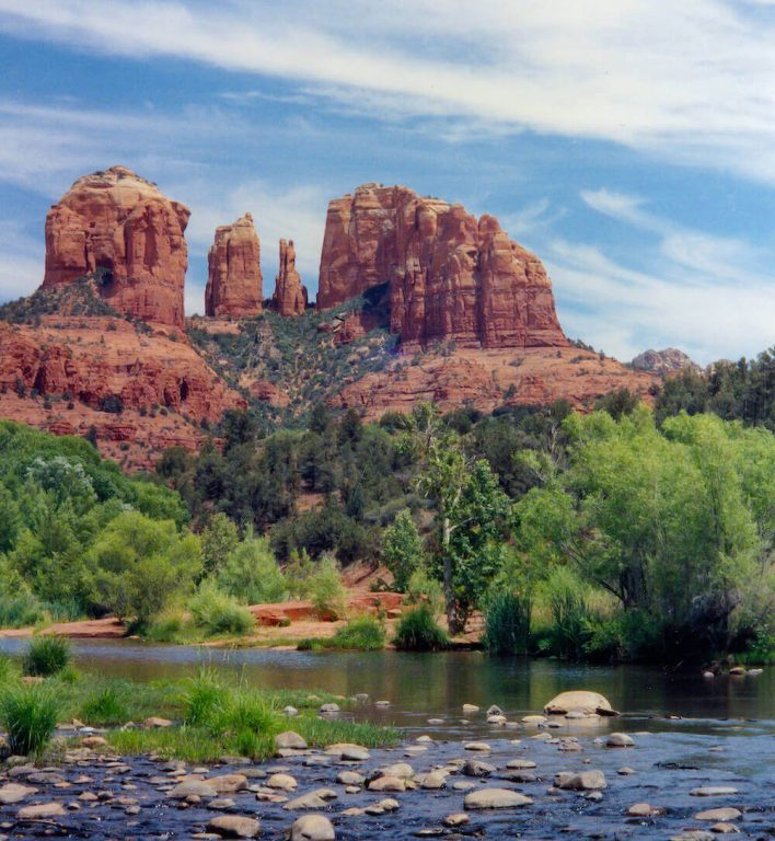 Red Rock Crossing Sedona Arizona by John Huling 1990